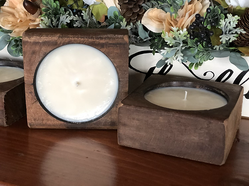 "5"" Wooden  Cheese Mold Candle"