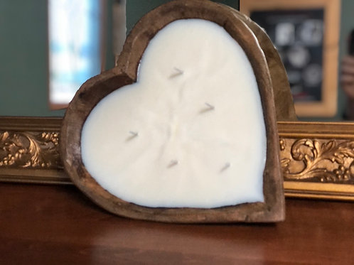 """Copy of 11"""" Sweetheart Dough Bowl Candle"""