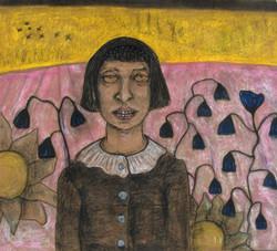 Girl in Pink Field