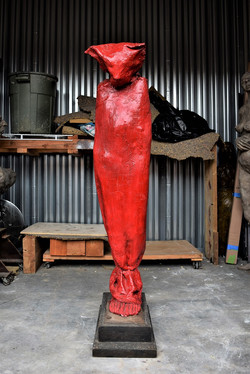 Red Hooded Woman