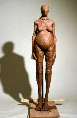 Standing Hooded Women