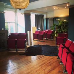 Cinema seats in main room