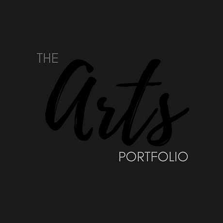 The Arts Portfolio logo black and grey.p
