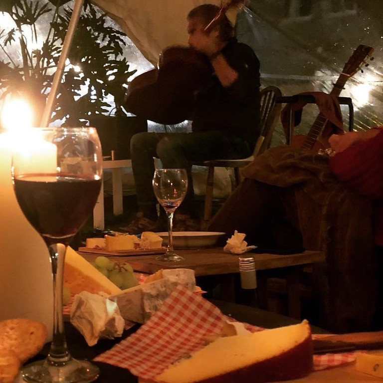 Evening of guitar with Wine & Cheese