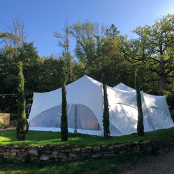 Capri marquee on front lawn