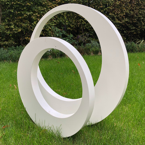 Two rings powder coated in white
