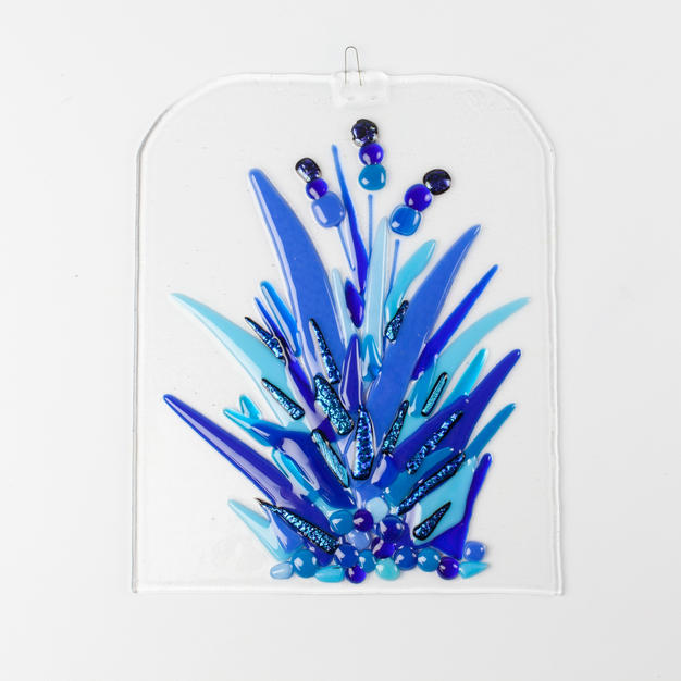 Fragments of Glass - Blue Flowers