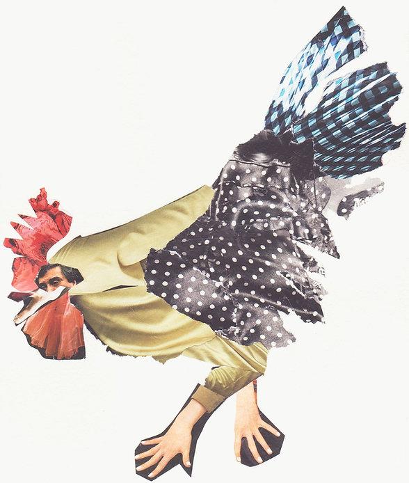 Chicken, Nancy Douglas Collage