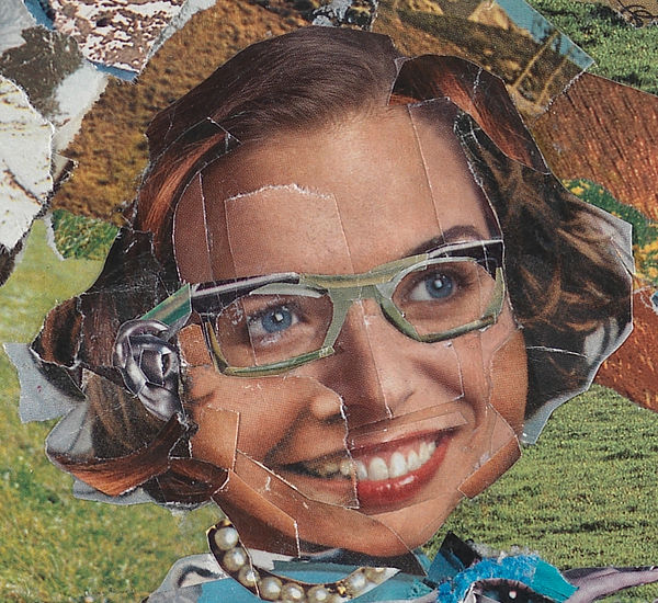 Flannery O'Connor Collage Portrait