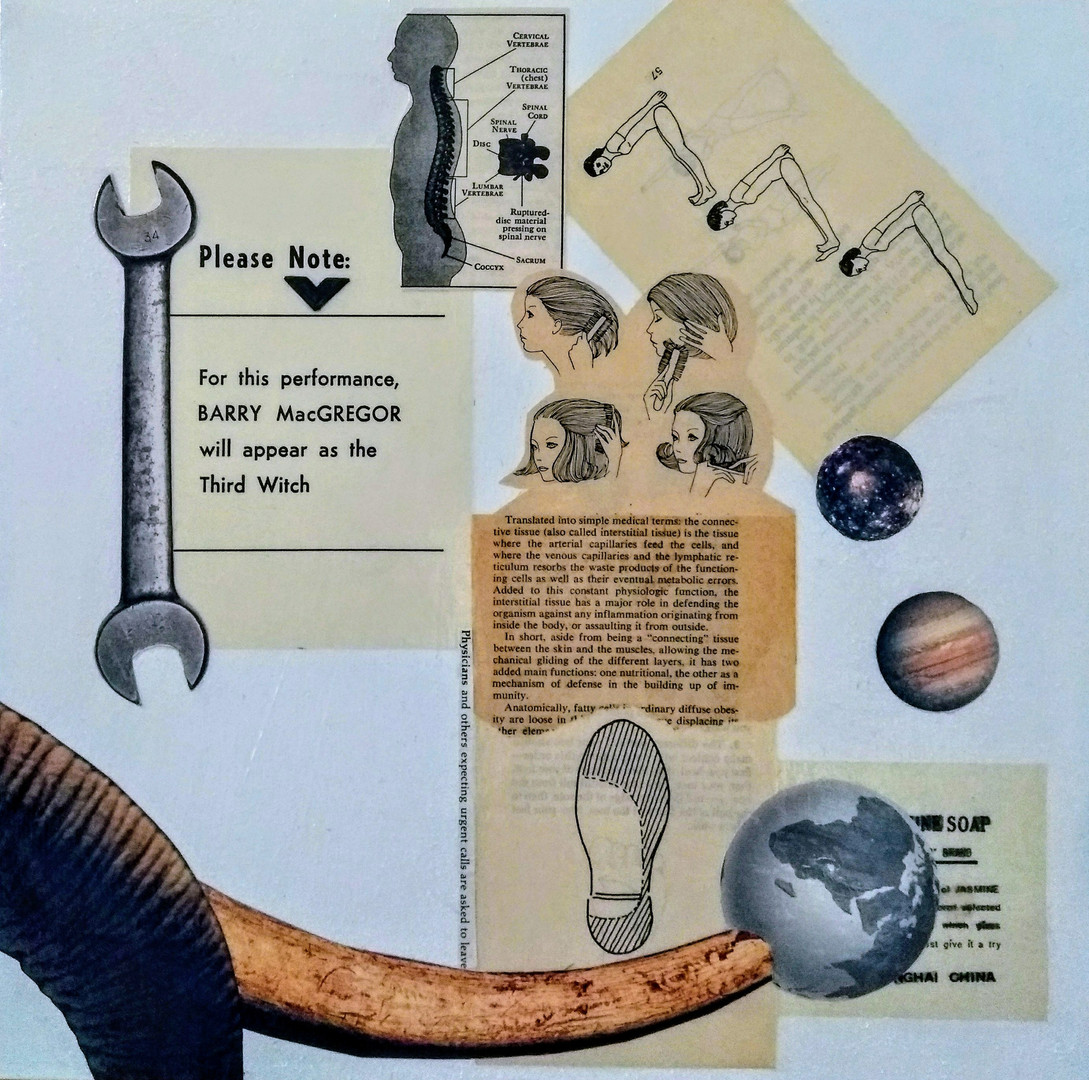 Barry MacGregor, 2018, Collage on Board