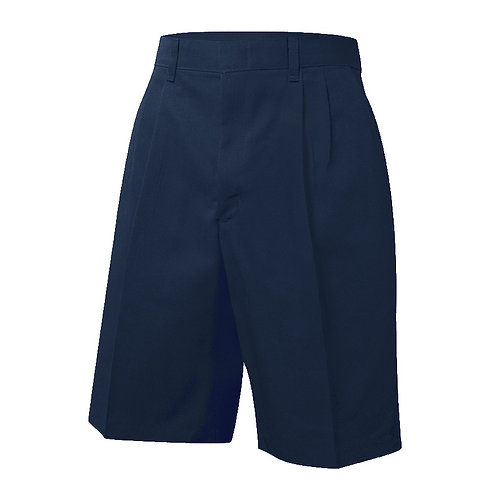 Pleated twill shorts, Navy, K-8, Prep, Husky & Mens