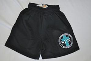 PE Shorts, Thick Style, with School Emblem PreK(everyday) K-8(PE Uniform)