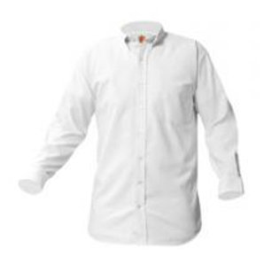 White Oxford Shirt, Long Sleeve, Embroidered (Female)