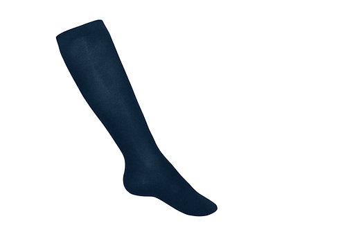 Smooth thick tights, Cotton, Navy, K-8
