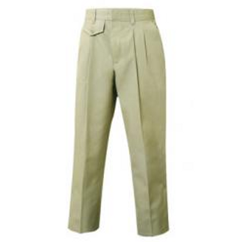 Tan Pleaded Slacks with Embroidery (Female) (grades 9-12)