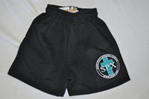 PE Shorts, Thick Style, with School Emblem PreK(everyday) K-8(PE Uniform)