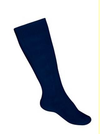 Navy Cable Knee Socks- 3 in pkg