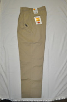 Pleated Khaki Slacks with School Logo (Men's)(grades 9-12)