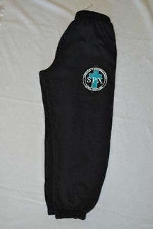 PE Sweatpants, with School Emblem PreK(everyday) K-8(PE Uniform)