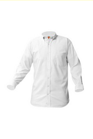 Oxford Shirt, Long Sleeve, White Grades 6-8