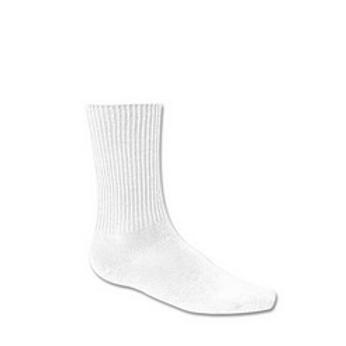 Crew Socks(White), 3 per pkg