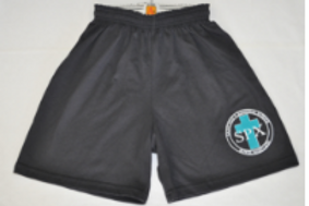 PE Shorts, Thin Style, with School Emblem PreK(everyday) K-8(PE Uniform)