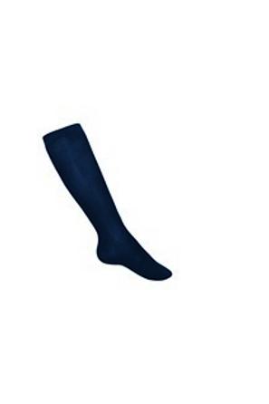 Smooth Navy Knee Socks, 3 pr in pkg