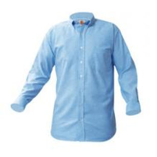 Blue Oxford Shirt, Long Sleeve, Embroidered (Female)