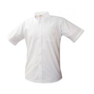 White Oxford Shirt, Short Sleeve, Embroidered (Female)