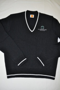V-Neck Sweater with Embroidery (grades 9-10)