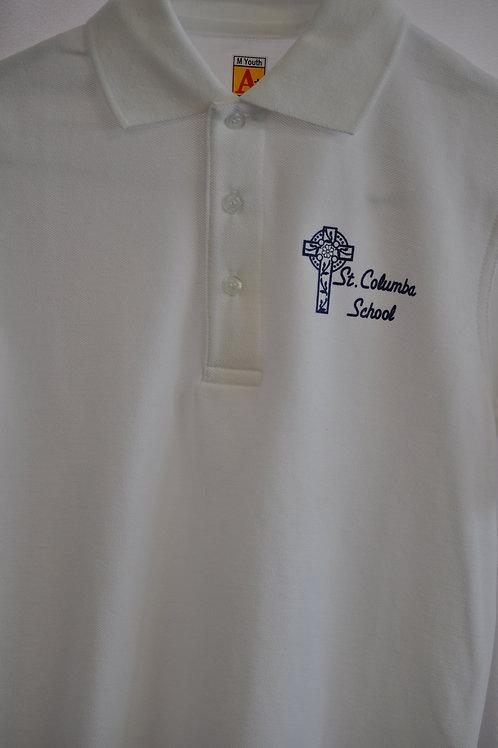 Smooth knit shirt, Short sleeve, ink logo, White, K-8
