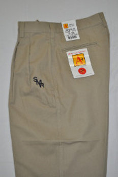 Pleated Khaki Shorts with School Logo (grades 9-12)