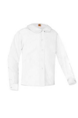 Peter Pan Blouse,Grades K-5,Long Sleeve,White