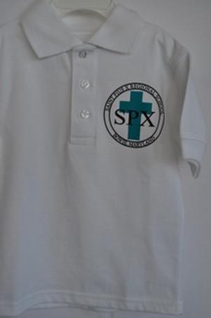 Knit shirt, short sleeve, with school emblem Grades K-8