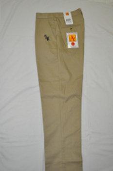 Flat Khaki Slacks with School Logo (grades 9-12) Half Sizes