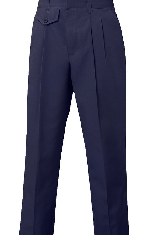 Twill slacks, pleated, Navy, K-8