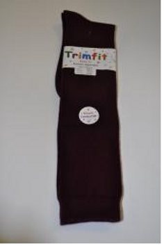 Maroon Smooth Knee Socks, Cotton (Female) 3 pair/pk