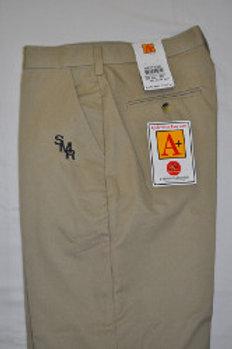 Flat Khaki Shorts with School Logo (grades 9-12)