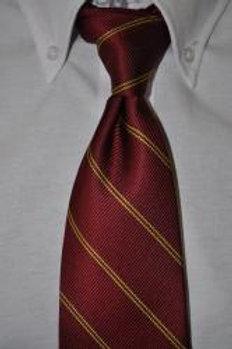 Maroon/Gold Striped Tie (Male) (grades 9-11)