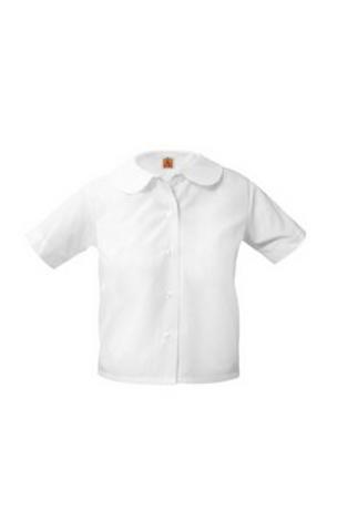 Peter Pan Blouse,Grades K-5,Short Sleeve, White