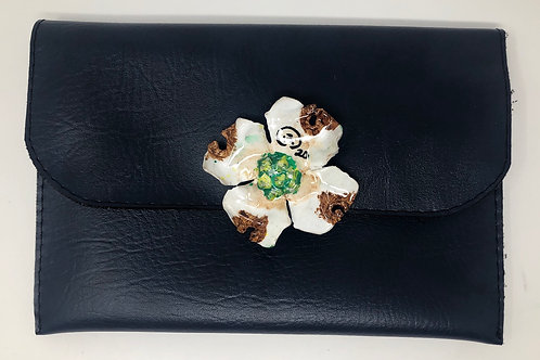 Navy Dogwood Clutch