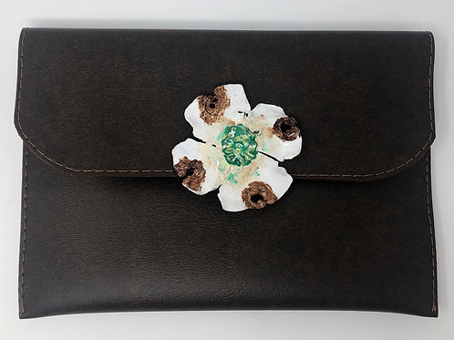 Brown Dogwood Clutch