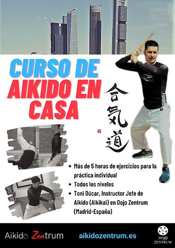 Cartel Curso de Aikido en Casa