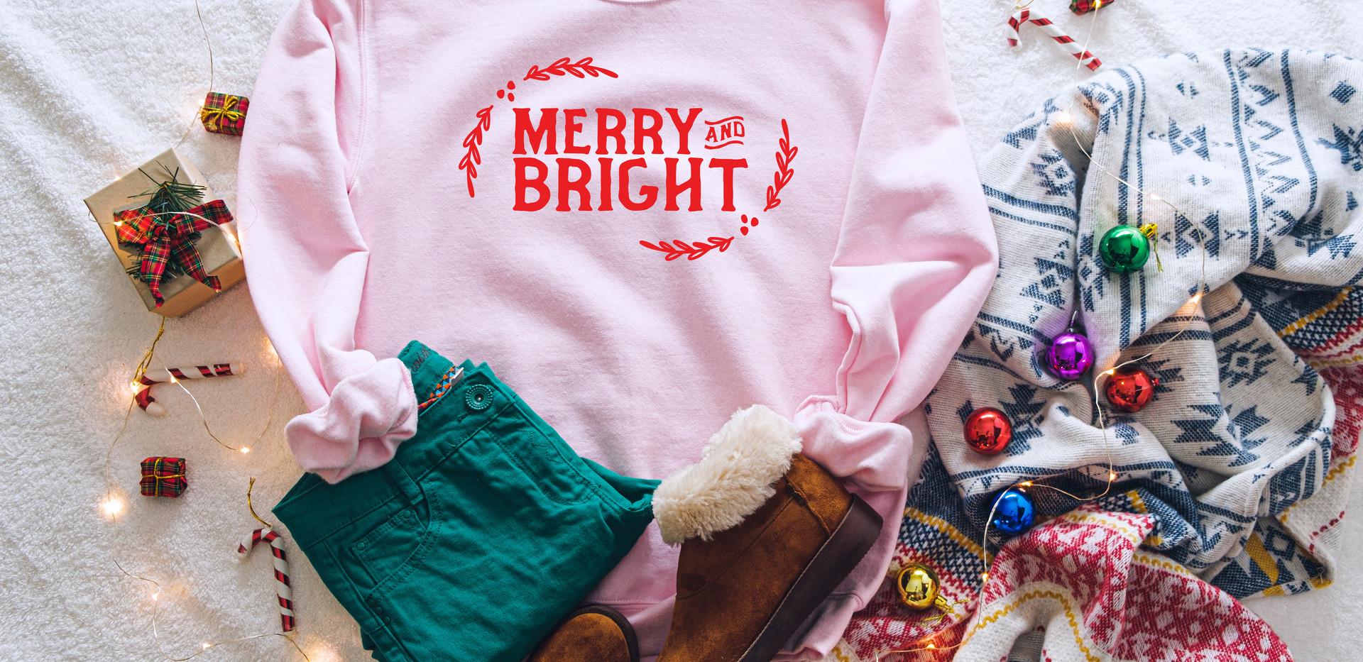 Merry & Bright pink sweatshirt.jpg