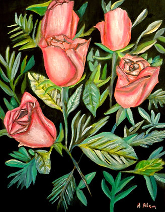 """16""""x20"""" print of a painting - Roses"""