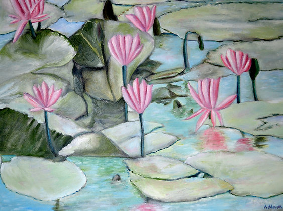 """16""""x20"""" print of a painting - Water Lilies"""