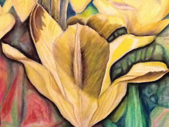 "16""x20"" print of a painting - Yellow Lilies"
