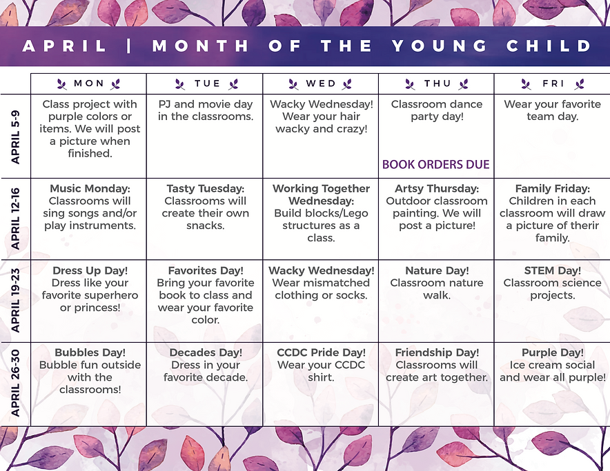 CCDC Month of the Young Child