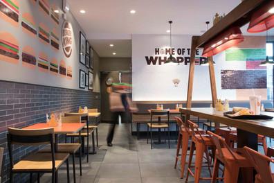 intéreur restaurant Burger King