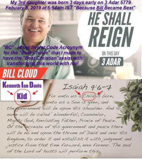 He Shall Reign Bill Cloud 3 Adar Birth B